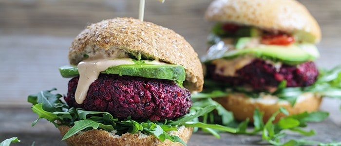 Delicious meat-free burger
