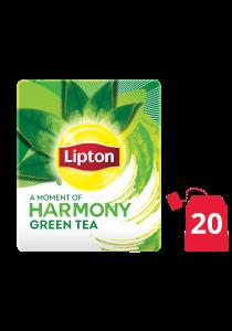 ليبتون شاي أخضر نقي ١٦ × ٢٠ باكيت شاي - الشاي الأخضر من العلامة التجارية رقم 1 في العالم، ليبتون، يساعد على الهضم ويزيد من التركيز