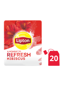 Lipton Herbal Infusion Hibiscus (16x20 teabags) - Lipton Herbal Teas are designed to lift each employee's mood