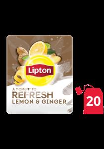 Lipton Herbal Infusion Lemon & Ginger (16x20 teabags) - Lipton Herbal Teas are designed to lift each employee's mood