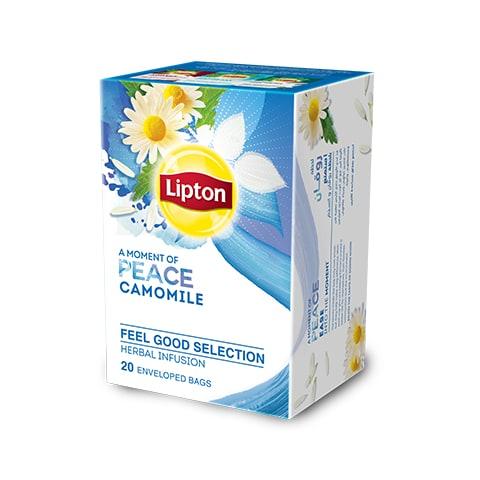 ليبتون شاي بابونج ١٦×٢٠ ظرف - ليبتون شاي الأعشاب مصمم لتحسين مزاج كل موظف