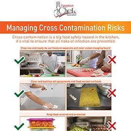 poster managing cross contamination risks