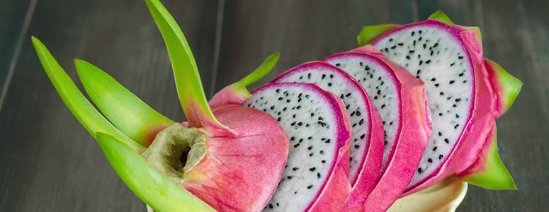 Dragonfruit beautifully presented